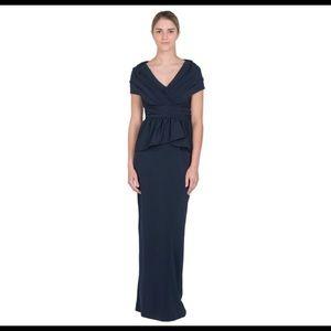 Badgley Mischka Collection evening gown -navy